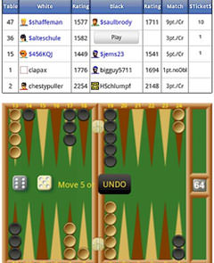 backgammon live sur gameclony